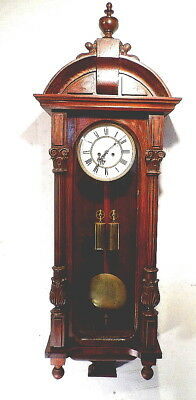 "German 1890 Two Weight Vienna Regulator---Large 49 1/2"" Walnut Case"