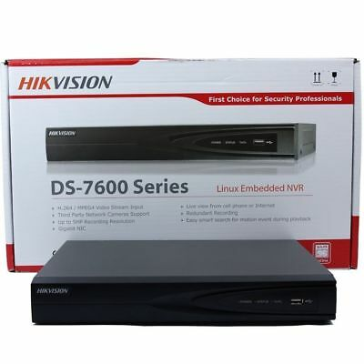 4K 8MP HIKVISION 4CH DS-7604NI-K1/4P 4POE 1SATA NVR Network Video Recorder