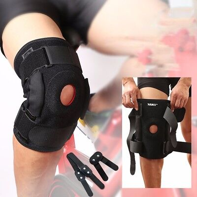 Hinged Knee Brace Adjustable Open Patella Support Swollen ACL Tendon Ligament US