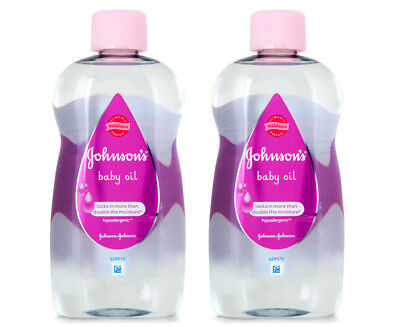 2 x Johnson's Baby Oil 500mL