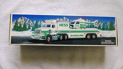 1995 HESS TOY TRUCK and HELICOPTER,  MINT in its Original Box