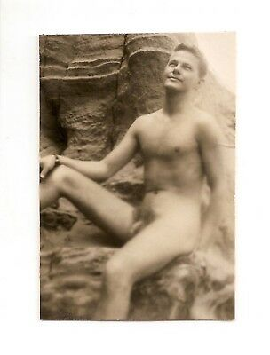 Vintage Male Nude - 1950's Rare Figure Study by Denny Denfield SF