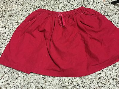 Mini Boden Girl's Skirt Pinkish-Red Corduroy Size 9/10Y