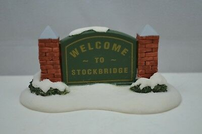 Norman Rockwell House Welcome to Stockbridge Town Sign Hawthorne Village gk