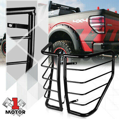Black Stainless Steel Tail Light/Lamp Guard Protector Cover for 09-14 Ford F150