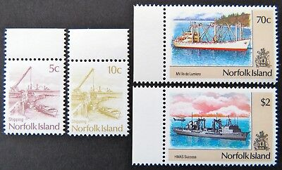 1990 Norfolk Island Stamps - Shipping Definitives Part I - Set of 4 - Tabs MNH