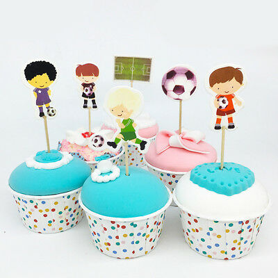 Emoji Cupcake Toppers Kids Birthday Party Cake Decorations Image Crafts 24 Pcs