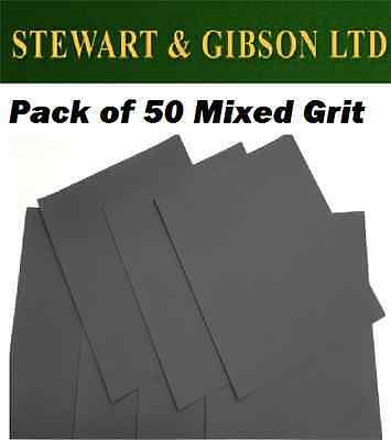 Wet And Dry Sandpaper Mixed Grit Sand Paper Mixed Pack Of 50 Blackspur