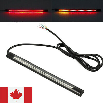 Motorcycle Flexible Bendable 48 LED Strip Light Tail Brake Stop Turn Signal Lamp