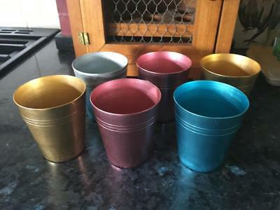 Vintage Anodised Cups & Case - Collectable - Six Cups  - Buy Now