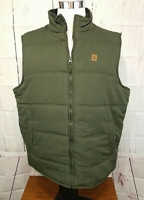 NWT's COLEMAN Full Zip Men's Quilted Vest - Olive Green color- MSRP $55 Sz XL