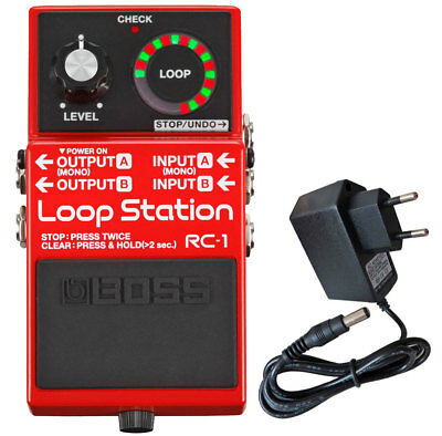 Boss RC-1 Loop Station Looper-Pedal + Netzteil