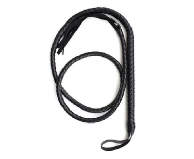Fouet jeu BDSM - longeur/length 1m85  - Black whip BDSM