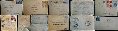 Vintage French France Postal History Covers 1791 - 1980's Letters Postcards