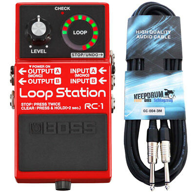 Boss RC-1 Loop Station Looper-Pedal + Gitarren-Kabel