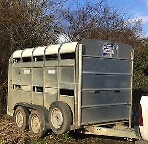 2009 IFOR WILLIAMS 10FT CATTLE TRAILER sheep decks gates & spare wheel  + VAT