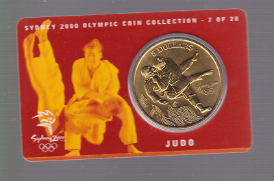 2000 Judo Sydney Olympic Games $5  UNC Coin Australia Sport
