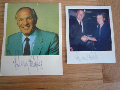 Henry Cooper Signed photo's X 2 Boxing Legend Guaranteed Genuine Hand Signed