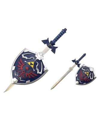 New Zelda Link's Hylian Shield and Master Sword Wall Display