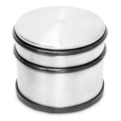 Chrome Metal Heavy Duty Door Stop Stopper With Rubber Non Slip Base 3 Inch