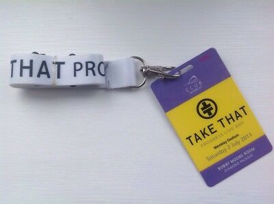 New Take That Lanyard & Ticket - Progress Tour 2011