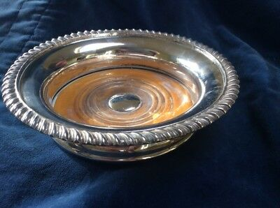 CHARMING 19TH CENTURY SILVER PLATED WINE COASTER Old Sheffield Plate