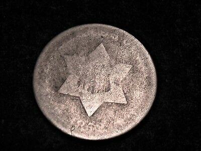 Nice 1852 Silver  Three Cent Type 1
