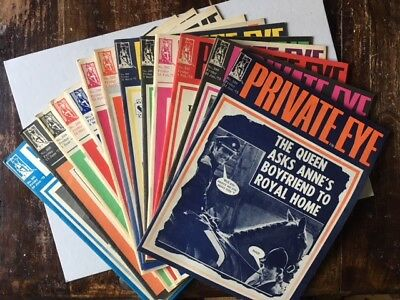 Private Eye Magazines X 13 All From 1973 All In Good Condition