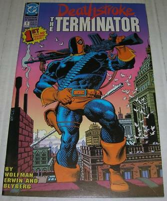 DEATHSTROKE: THE TERMINATOR #1 (DC Comics 1991) Origin retold (VF-)