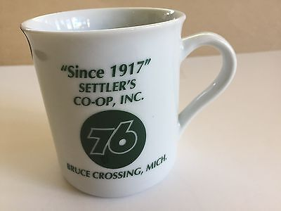 Settler's Co-Op Bruce Crossing, MI Union 76 Coffee Cup- NEW Mint Condition