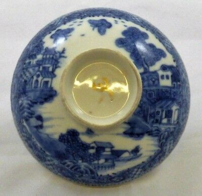 An 18Th Century Chinese Export Blue And White Porcelain Bowl Cover, Qianlong