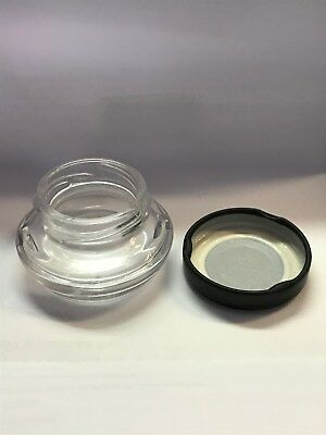 Lot of 1,120 1 oz glass jars with lids