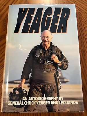 YEAGER Autobiography, Hardcover Book 1st edition, Signed by Chuck Yeager