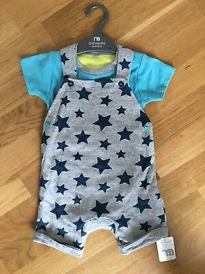 Baby Boys Mothercare Soft Dungarees (12-18 Months)