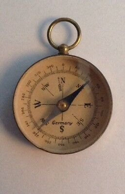 Vintage German Hand Held  Compass Made In Germany