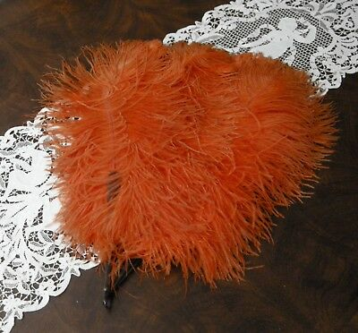 Antique Vintage 1920's Burlesque Large Feather Fan