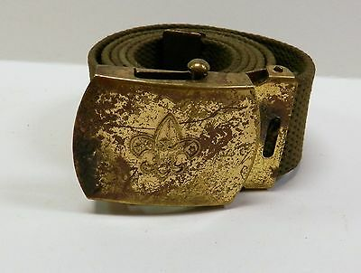 Vintage Boy Scouts of America Belt with Solid Brass Buckle BSA Anchor Hallmark