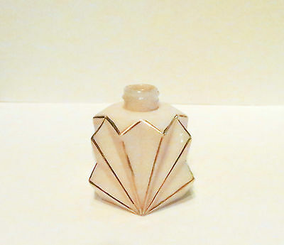 Art Deco Flask Perfume Bottle Glass