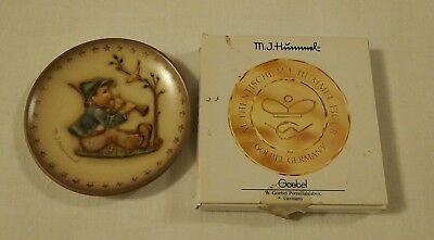 Mj Hummel Goebel Porcelain Singing Lesson #1163 Mini Plate Hum 979