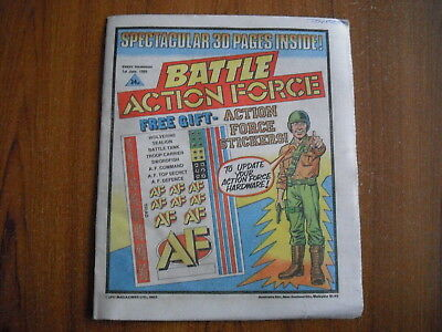 BATTLE ACTION FORCE COMIC - JUNE 1st 1985