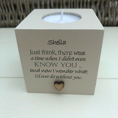 Shabby Personalised Chic Candle Special Best Friend Birthday Gift Sentimental