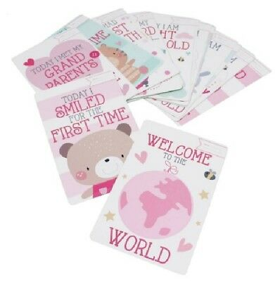 30 Baby Girl Memorable Moment Cards 1st Year Milestone Keepsake New Baby Gifts