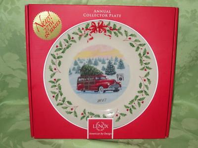 Lenox ~ 2017 Annual Collector Plate ~ 27th in series ~ red station wagon woody