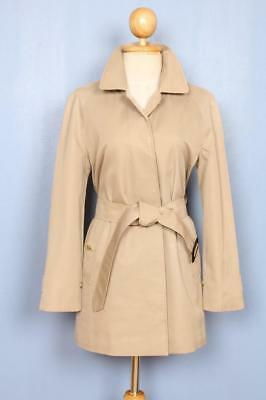 Womens BURBERRY Single Breasted Short TRENCH Coat Mac Beige 10/12