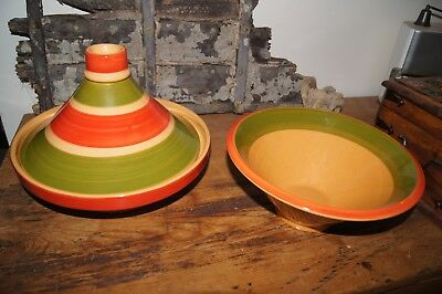 Moroccan Tagine and Matching Salad Bowl