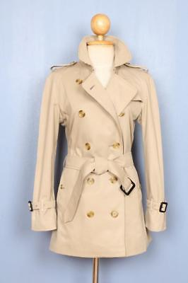 BEAUTIFUL Womens BURBERRY Double Breasted Short TRENCH Coat Mac 8/10