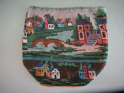 ANTIQUE,salvaged micro beaded purse,HAD TO FIND A HOME FOR THIS WONDERFUL PIECE