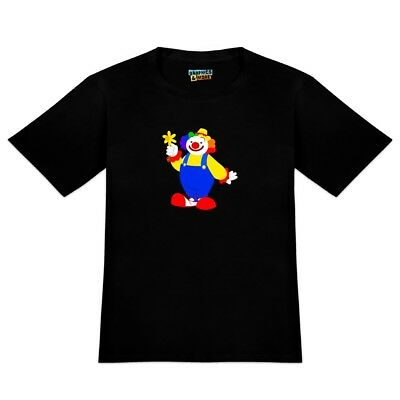 Clown with Flower and Big Shoes Men's Novelty T-Shirt