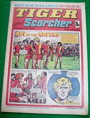 Tiger Comic 8/2/1975 With West Ham United F.c. Stunning Colour Centrefold Poster