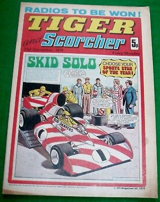Tiger Comic 21/12/1974 With Derby County F.c.  Stunning Colour Centrefold Poster